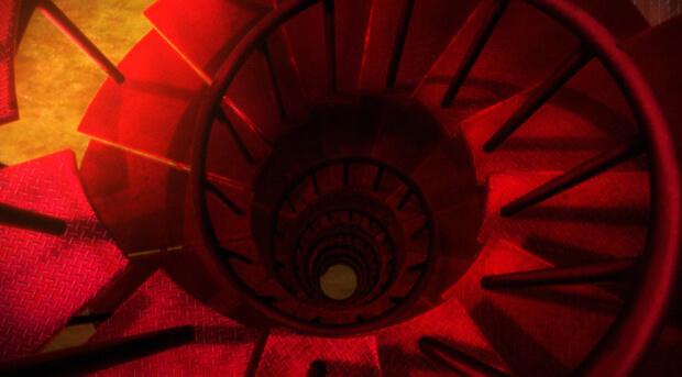 空の境界「矛盾螺旋」螺旋階段